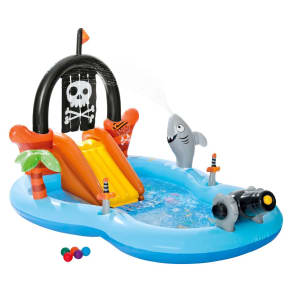 """Intex 97 X 76"""" X 59"""" Pirate Play Center Inflatable Pool With Sprayer, Multi-Colored"""