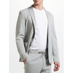 Kin by John Lewis Athleisure Jersey Suit Jacket, Light Grey