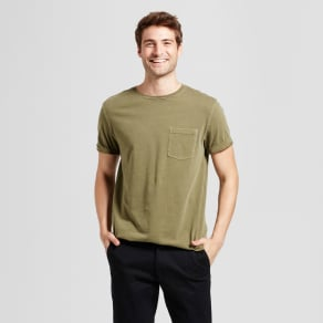 Men's Standard Fit Short Sleeve Garment-Dyed Crew T-Shirt - Goodfellow & Co Green S