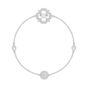 Swarovski Swarovski Swarovski Remix Collection Sparkling Dance Flower, White, Rhodium Plating White Rhodium-Plated
