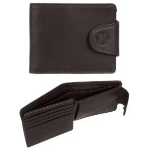 Conkca London - Dark Brown 'Klaus' Rfid Leather Wallet