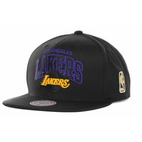 Los Angeles Lakers Mitchell & Ness Nba Black Out Snapback Cap