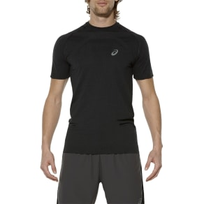 Asics Seamless Short Sleeve Men's Running T-Shirt, Black