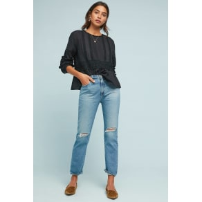 Ag the Isabella Ultra High-Rise Straight Jeans