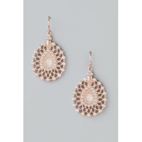 Nellie Opal Filigree Earrings - Rose/Gold