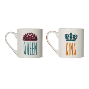 Ben De Lisi Home Pack of 2 'King' and 'Queen' Mugs