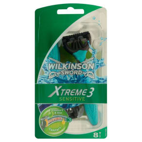 Wilkinson Sword Xtreme 3 Disposable Razors- Sensitive 8 Pack