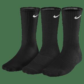 Nike 3 Pack Moisture Mgt Cushion Crew Socks - Mens - Black/White