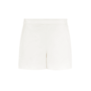 Hallhuber Shorts With Slanted Side Pockets, White