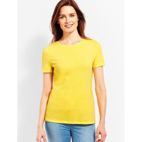 Talbots Women's Space Dyed Crewneck Tee