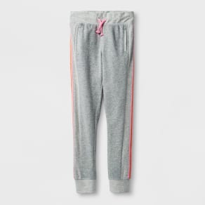 Girls' Activewear Jogger Pants - Cat & Jack Heather Gray S