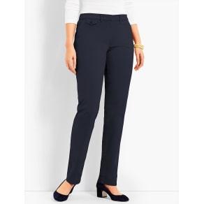 Talbots: Peached Sateen Straight Leg Pant Curvy Fit