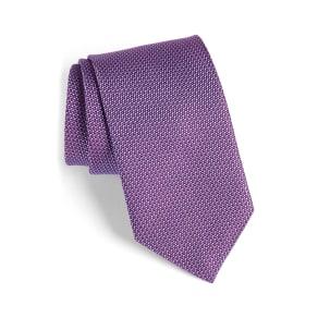 Men's David Donahue Solid Silk Tie, Size Regular - Purple