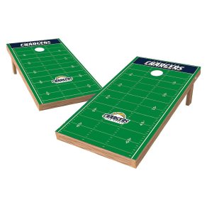 Los Angeles Chargers Wild Sports Xl Shield Football Field Cornhole Bag Toss Set - 2'x4'