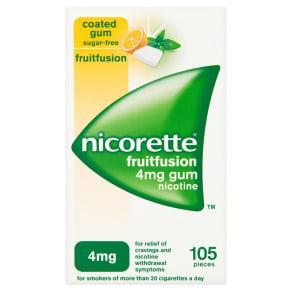 Nicorette Fruitfusion Gum 4mg - 105 Pieces
