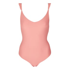 Womens Ribbed Frill Swimsuit