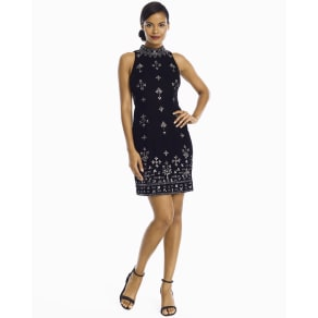 Women's Adrianna Papell Black Velvet Beaded Dress by White House Black Market