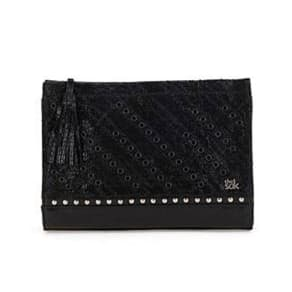 The Sak Iris Demi Clutch - Black Quilt