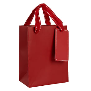 John Lewis Gift Bag, Red, Mini