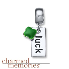 Charmed Memories Lucky Clover Charm Sterling Silver