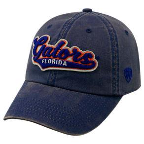 Top Of The World Florida Gators College Heritage Park Adjustable Back Hat, Blue