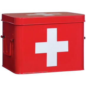 Premier Housewares Red Cross First Aid Box.