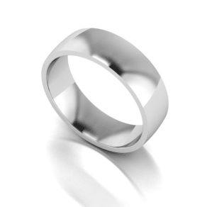 Love Story Silver 6mm Med Court Wedding Ring