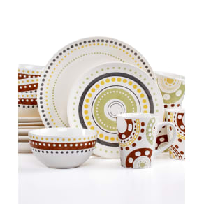 Rachael Ray Circles and Dots 16-Pc. Set, Service for 4