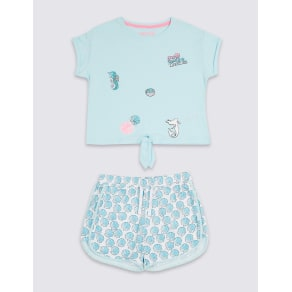 Pure Cotton Printed Pyjamas (3-16 Years)