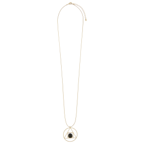 Astrid Triangle Long Pendant Necklace
