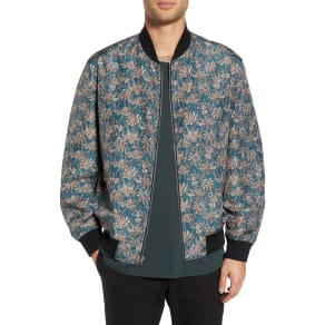 Men's Theory Basma Reversible Bomber Jacket, Size Medium - Black