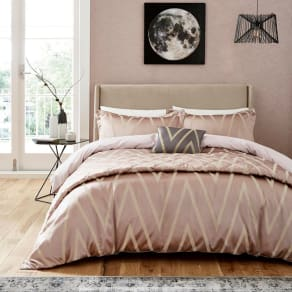 Harlequin Mauve Viscose and Polyester 250 Thread Count 'Moriko' Duvet Cover