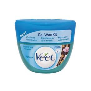 Veet Gel Wax Kit Sensitive Skin Almond Oil 250ml