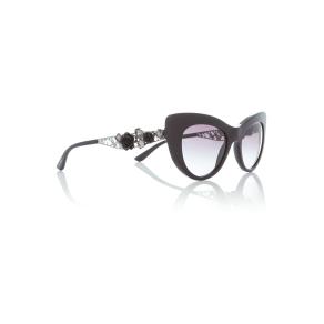 Dolce&gabbana Black Dg4302b Cat Eye Sunglasses, Black