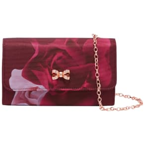 Ted Baker Zaharaa Porcelain Rose Evening Bag, Maroon