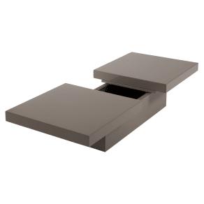 Two Block Storage Coffee Table Stone