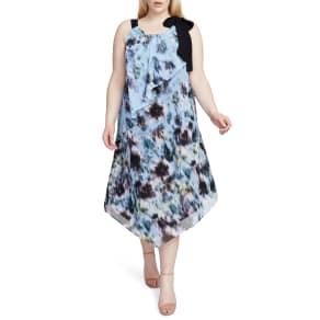 Plus Size Women's Rachel Rachel Roy Floral Halter Scarf Dress, Size 0x - Blue