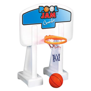 Pool Jam Volleyball/Basketball Combo In Ground Pool Toy, Multi-Colored