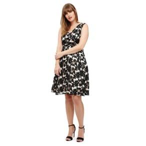 Studio 8 Sizes 12-26 Black Multi-Coloured Bay Lace Dress