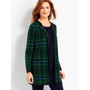 Talbots Women's Classic Plaid Topper