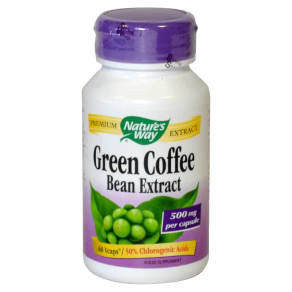 Nature's Way Green Coffee Bean Extract 500mg 60 Capsules - 60capsules, Green