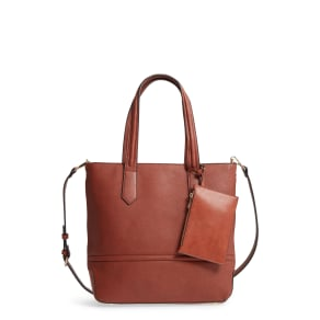 Sole Society Faux Leather Tote - Red
