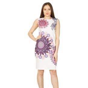 Izabel London Multicoloured Retro Print Bodycon Dress