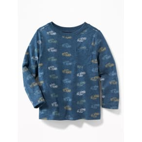Old Navy Baby Printed Crew-Neck Tee For Toddler Boys Trucks -