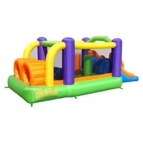 Bounceland Obstacle Pro Racer Bounce House, Green/Multicolor