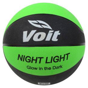 Voit Glow-In-The-Dark Basketball - Black/Green, Brown