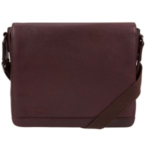 Portobello W11 Oxblood 'Blake' Buffalo Leather Messenger Bag
