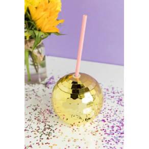 Gold Disco Ball Tumbler