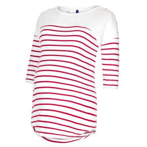 Seraphine Jillian Stripe Maternity Nursing Top, Red/White