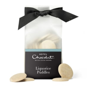 Liquorice White Chocolate Puddles